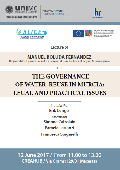 ALICE Lecture on water reuse  governance in Murcia