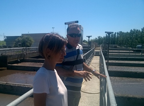 Visiting wastewater treatment plants in Italy