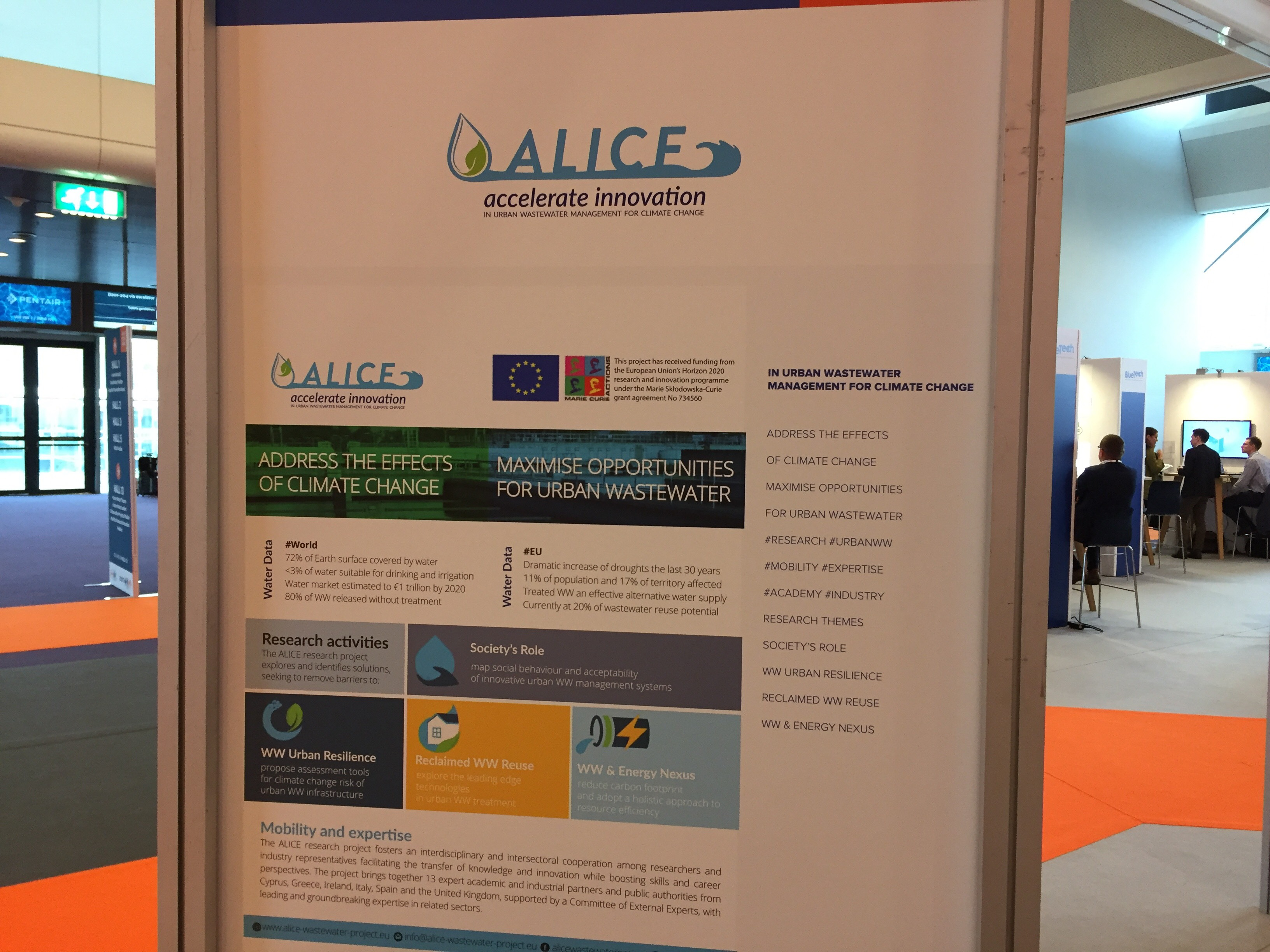 Alice project has been invited to join the EU Innovation Projects Pavilion at Aquatech Amsterdam (4-8, November 2019)